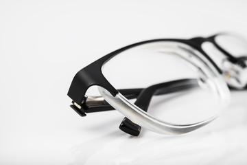 Closeup of eye glasses