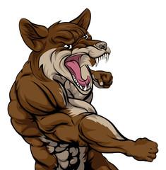 Punching Coyote Mascot