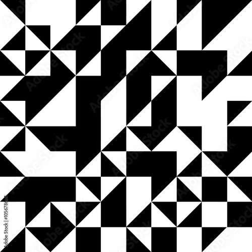 quottriangle geometric shapes pattern black and white