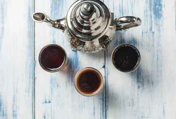 Moroccan tea glasses of colors