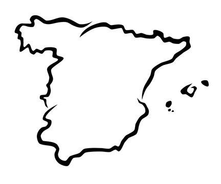 Karte Spanien - 1