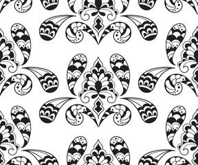 Vector  Seameless Paisley Pattern