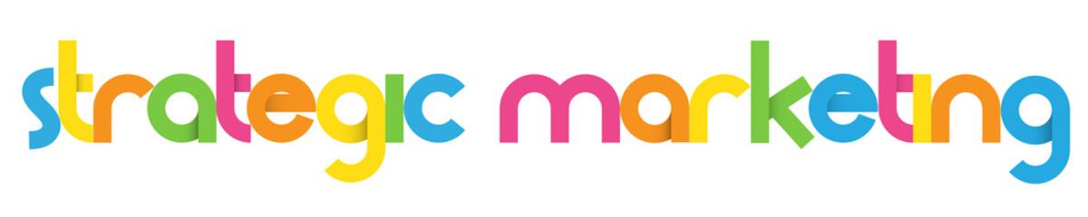 STRATEGIC MARKETING Vector Letters Icon