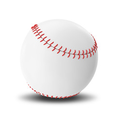Baseball ball isolated on white background.