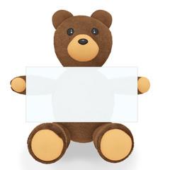 Teddy Bear with billboard