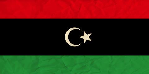 Libya  paper  flag