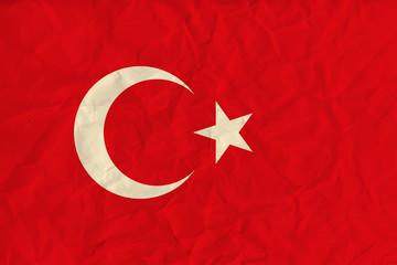 Turkey  paper  flag