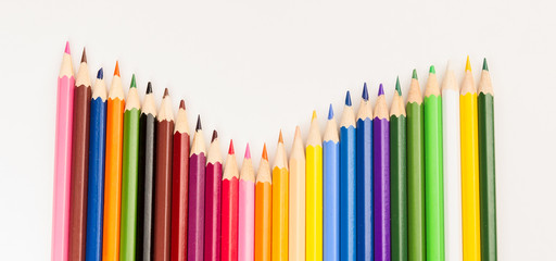 Colorful kit of wooden pencils