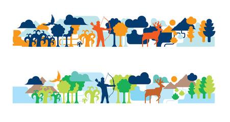 Wildlife tale illustration