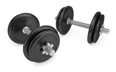 Dumbbells isolated on white background