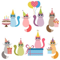 Cats on Birthday party