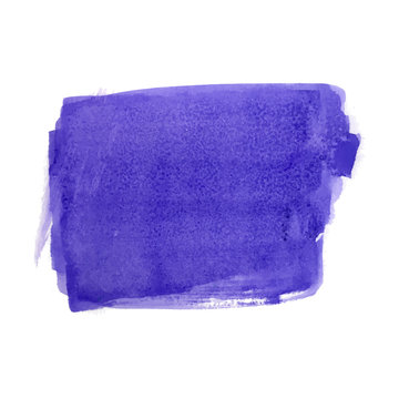 Dark blue watercolor spot