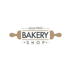 Bakery badge and bread logo icon modern style vector.