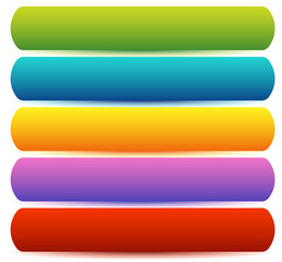 Horizontal banner / button templates, blank backgrounds in sever