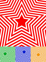 Set of star backgrounds. 4 versions, colors included