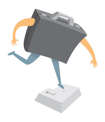 Digital business portfolio pressing enter or return key