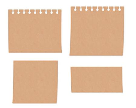 クラフト紙風イラスト セット素材 メモ用紙