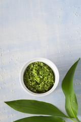 Wild garlic and Sesame seeds pesto sauce