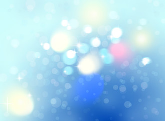 Christmas background with bokeh lights