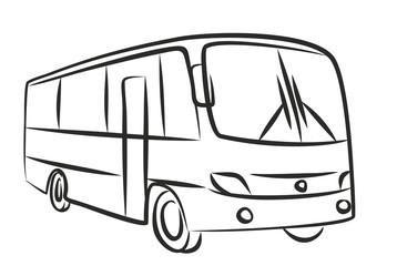 Sketch of passenger bus.