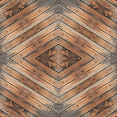 Wooden vintage board rhombus seamless pattern background