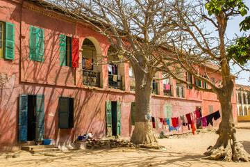 Scène de vie sur l'île de Gorée, Sénégal