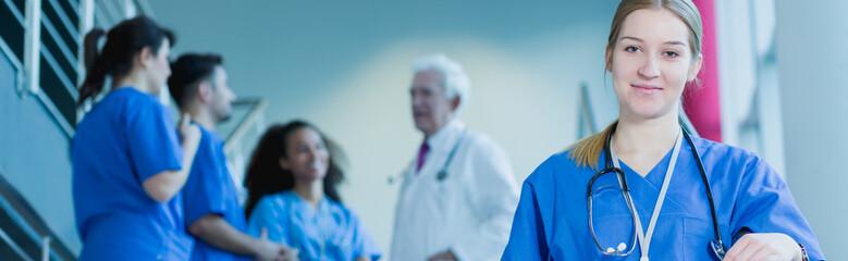 Young girl and medical internship