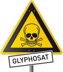 Schild Glyphosat Vektor mit Totenschädel