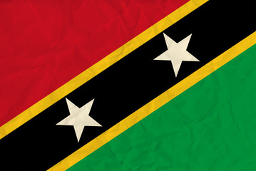 Saint Kitts and Nevis  paper  flag