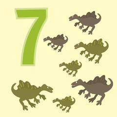 Number 7. Seven dinosaur (Spinosaurus).