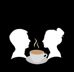 Couple and cup of coffee