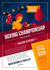 Boxing Championship Poster