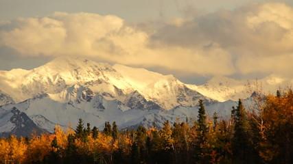 Wall Mural - Autumn Drive Fall Colors Alaska Mountain Highway Transportation