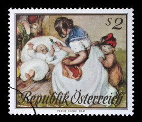 Stamp printed in GDR shows The 20th Anniversary of DDR's Olympic Committee, Discobolus, A Fiery Spirit in a Muscular Body, circa 1971