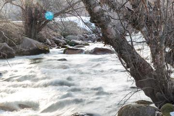 mountain river in Kazakhstan in nature