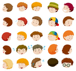 Boys with different emotions