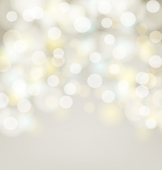 Abstract silver bokeh simple background with blurred light