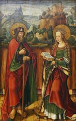 Jacob Cornelisz van Oostsanen: St. James Elder and Catherine of Alexandria, Old Masters Collection, Croatian Academy of Sciencesin Zagreb, Croatia
