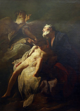 Federico Bankovic: Abraham's sacrifice of Isaac, Old Masters Collection, Croatian Academy of Sciences in Zagreb, Croatia