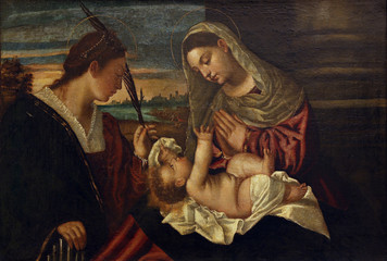 Polidoro to Lanciano: Madonna and Child with St. Cecilia, Old Masters Collection, Croatian Academy of Sciences in Zagreb, Croatia