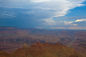 Grand Canyon before heavy storm
