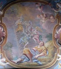 Jacobs dream, fresco in the St Nicholas Cathedral in Ljubljana, Slovenia