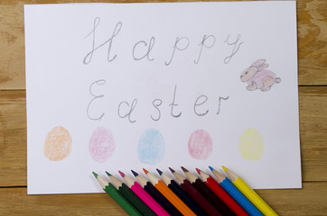 easter drawing pencil