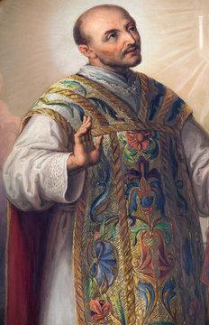 St Ignatius of Loyola, altarpiece in the Basilica of the Sacred Heart of Jesus in Zagreb, Croatia
