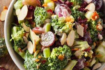 Homemade Green Broccoli Salad