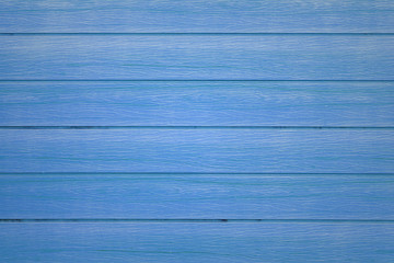 Blue wooden wall texture for background.