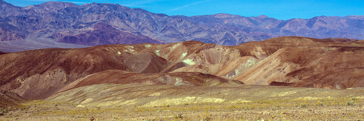Death Valley National Park colorful panorama