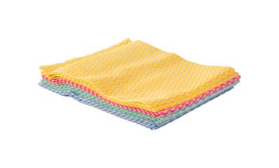 colored cloth napkin on  white