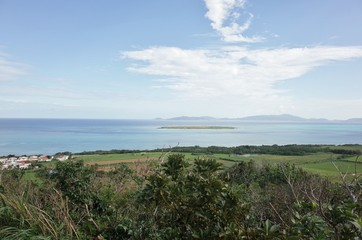 view in Kohama island Okinawa Japan