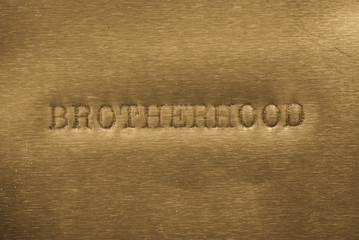 word brotherhood printed on metallic background c93355aa32b